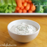 Easy Vegetable Dip with Dill