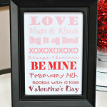Free Printable-- Valentine's Day Ombre Art