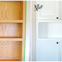 DIY Tutorial--How To Install Beadboard Wallpaper in a Cabinet