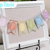 Spring Sign with Book Page Banner