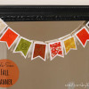Easy Fall Decor: No-Sew Fabric Banner