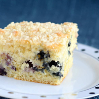Blueberry Coffee Cake with Crumb Topping {Recipe}