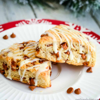 Glazed Cinnamon Eggnog Scones Recipe