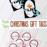 Printable Christmas Duck Tape Gift Tags