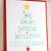 Christmas Decor- Wood Sign {Plus Free Printable Tree}