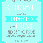 Come Unto Christ {Free Printable Poster for LDS Young Womens}