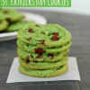 Green Mint Chocolate Chip Cookies {For St. Patricks Day}