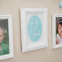 Life is Good Printable : Simple Photo Gallery in Entryway