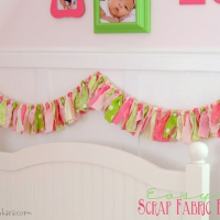 Easy Fabric Scrap Banner