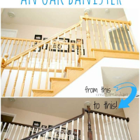 DIY Staircase Makeover with Stain and Paint