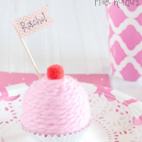 Mini Faux Cupcake Place Holders {Birthday Decorations}