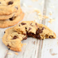 Coconut Oil Chocolate Chip Cookies with Toasted Coconut