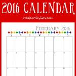 Free Printable 2016 Calendar