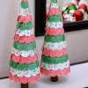 Circle Punched Paper Christmas Trees