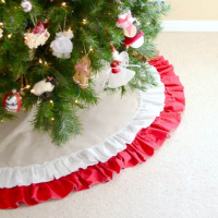 Easy to Sew Ruffled Tree Skirt Tutorial