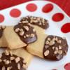 Dipped Brown Sugar Shortbread Cookies