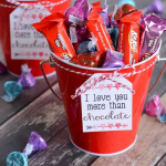 Chocolate Lover's Valentine's Gift Baskets with Printable Tag