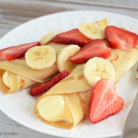 Strawberry Banana Dessert Crepes Recipe