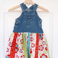 Denim Jumper Twirl Skirt Tutorial