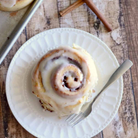 One Hour Cinnamon Rolls with Cream Cheese Frosting