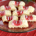 Buttery Glazed Raspberry Ribbon Cookies