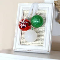 Simple Framed Ornaments (5 minute Christmas decor)