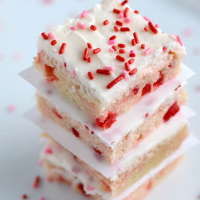 Maraschino Cherry Sugar Cookie Bars Recipe