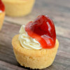 Mini Cherry Cheesecake Cookie Cups