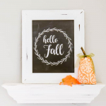 Hello Fall Printable (Chalkboard or Black & White)