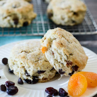 Dried Fruit Scones with Chocolate Chips