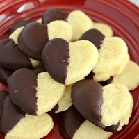 Chocolate Shortbread Hearts {Valentine Recipe}