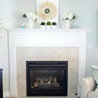 Brass Fireplace Makeover {Spray Paint Magic}