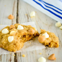 White Chocolate Peanut Butter Cookies with Oats