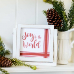 Red & White Farmhouse Christmas Signs (Free Printables)