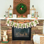 Carrot Patch Easter Mantel with Free Printables