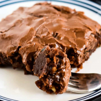 Zucchini Brownies with Chocolate Frosting Recipe