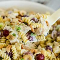 Creamy Chicken Pasta Salad with Grapes