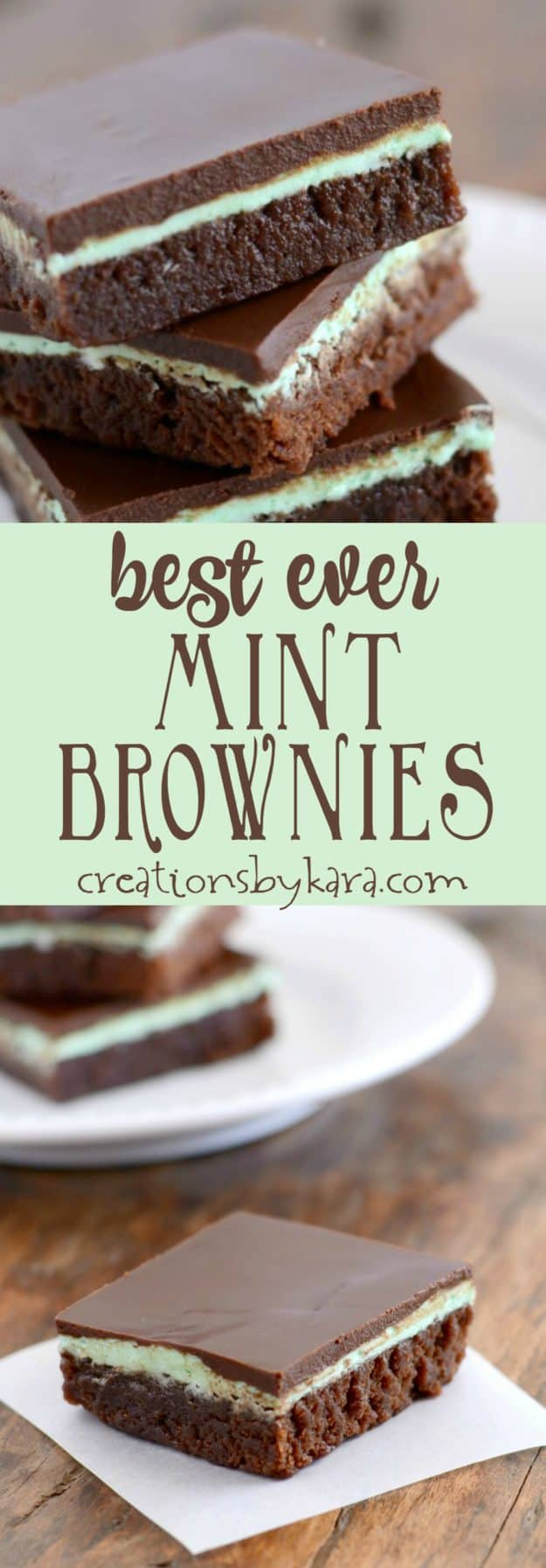 best ever mint brownies recipe collage