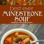 best minestrone soup recipe collage