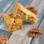 Recipe for quick and easy Butterscotch Bars with pecans. A great bar cookie recipe1