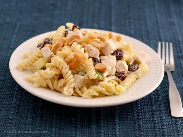 This Chicken Pasta Salad is a favorite summer meal. The cashews make it extra special!