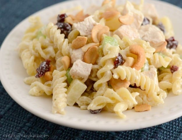 This Pasta Chicken Salad is a family favorite. So many delicious flavors!