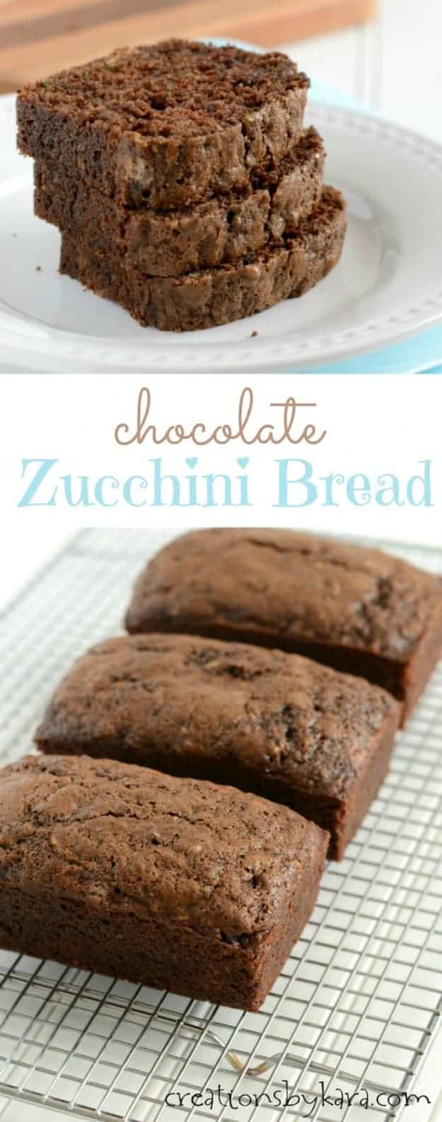 Moist and delicious Chocolate Zucchini Bread