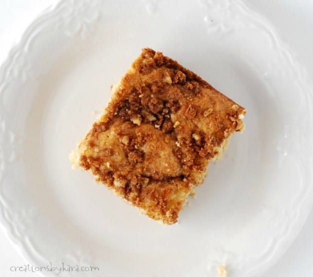 Every bite of this Cinnamon Crumb Coffee cake is delicious!
