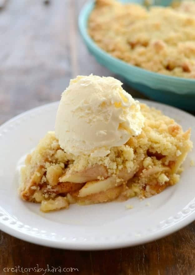 There is no crust rolling involved with this awesome Dutch Apple Pie. It is the best ever!
