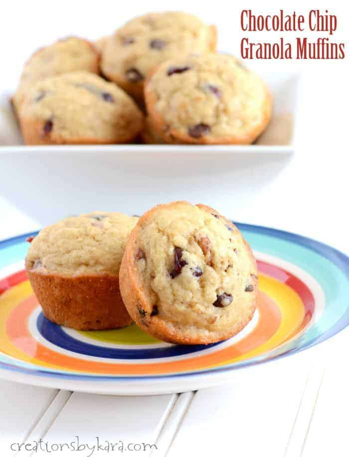 Recipe for Chocolate Chip Granola Muffins