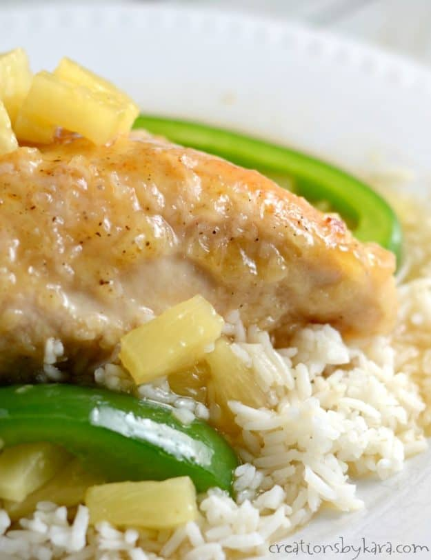 Sweet and sour chicken recipe. This Hawaiian Chicken is baked instead of fried. A tasty chicken recipe that everyone loves.