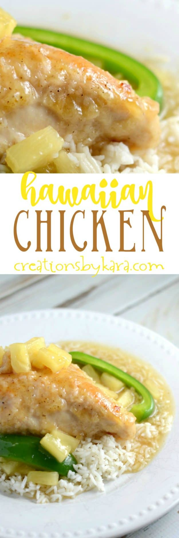 Recipe for Hawaiian Chicken. This sweet and sour chicken is easy and so tasty. Baked, not fried, it is healthier than other sweet and sour chicken recipes.