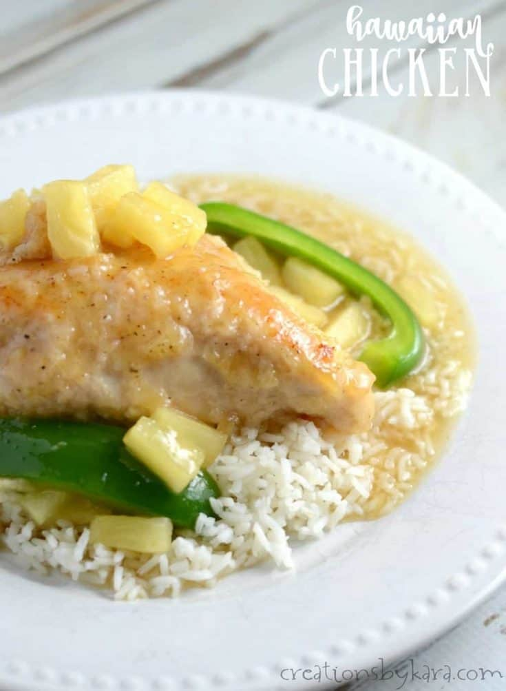 Hawaiian sweet and sour chicken - an easy and yummy chicken recipe.