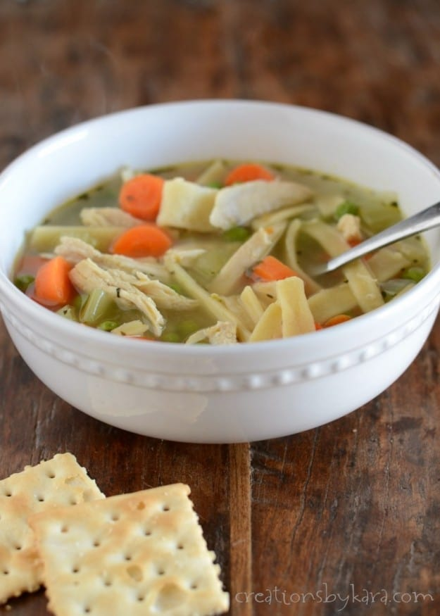 This Chicken Noodle Soup will make you feel better- Even if you aren't sick!